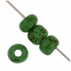 1/0 Rocaille 6.6mm Opaque green/marble